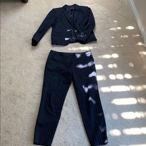 Zara navy blue pinstripe suit set - size small